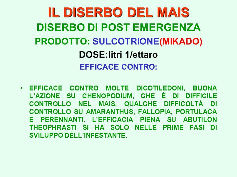 DISERBO DI POST EMERGENZA PRODOTTO: SULCOTRIONE(MIKADO)