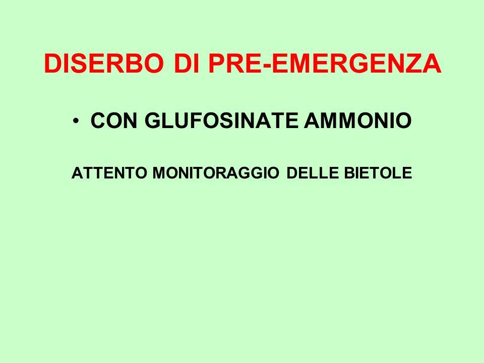 DISERBO DI PRE-EMERGENZA