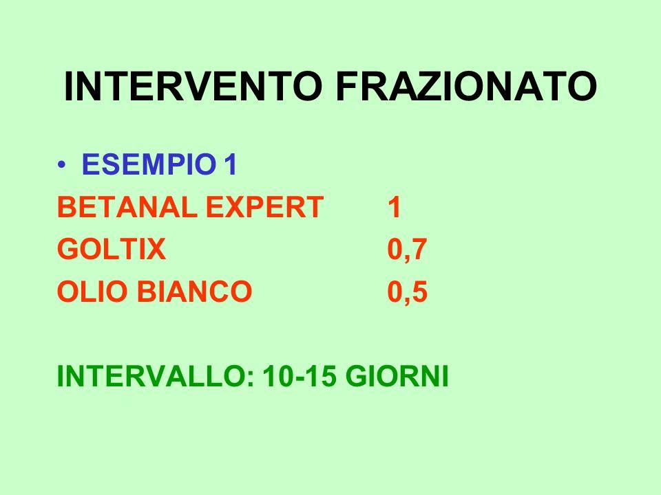 INTERVENTO FRAZIONATO