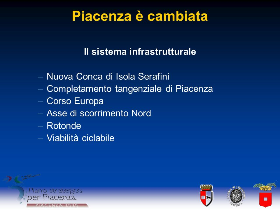 Il sistema infrastrutturale