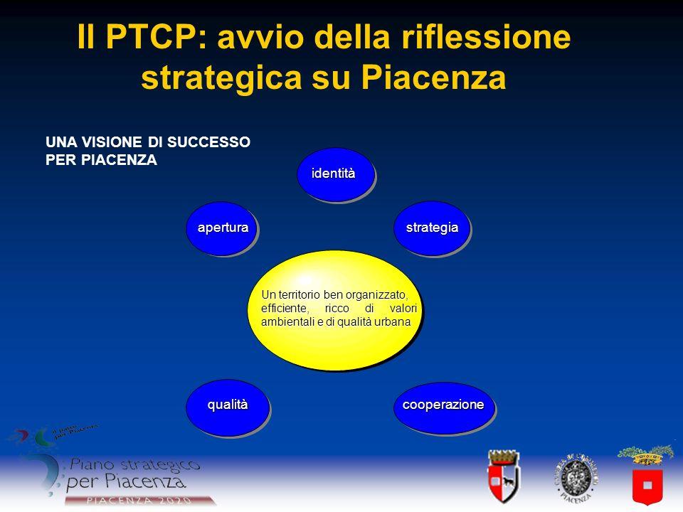 Il PTCP: avvio della riflessione strategica su Piacenza