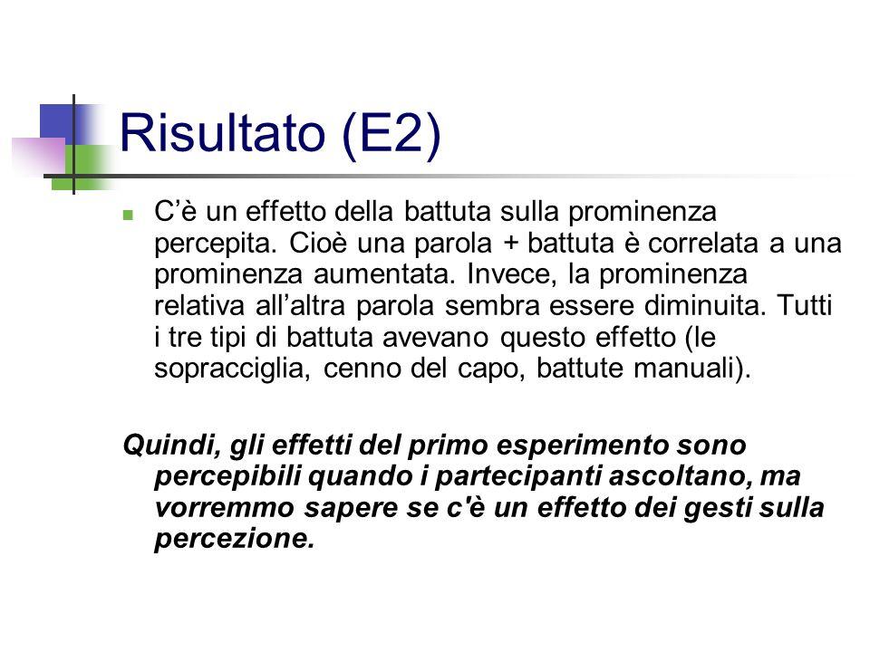 Risultato (E2)