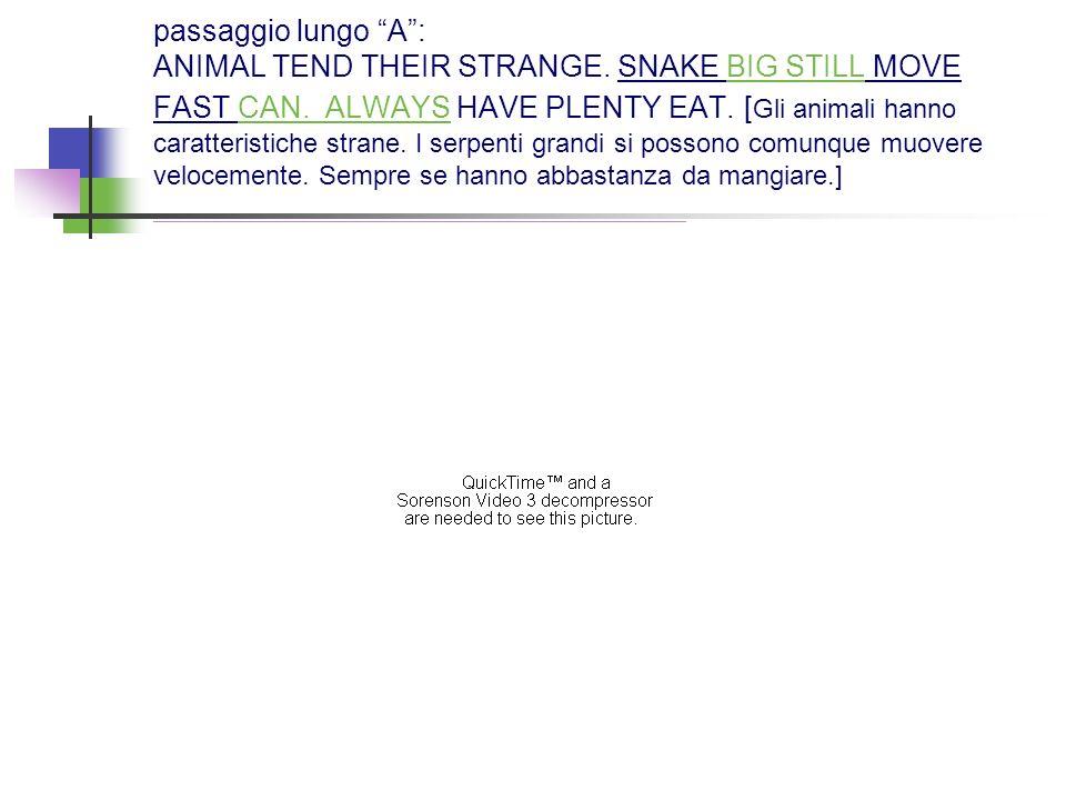 passaggio lungo A : ANIMAL TEND THEIR STRANGE