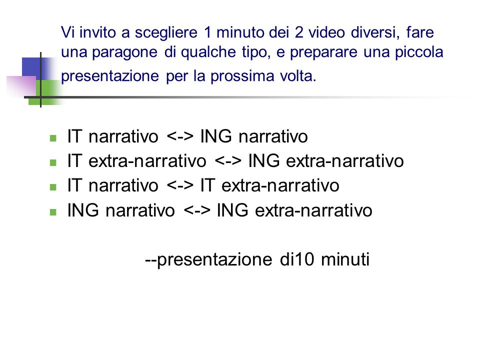 IT narrativo <-> ING narrativo