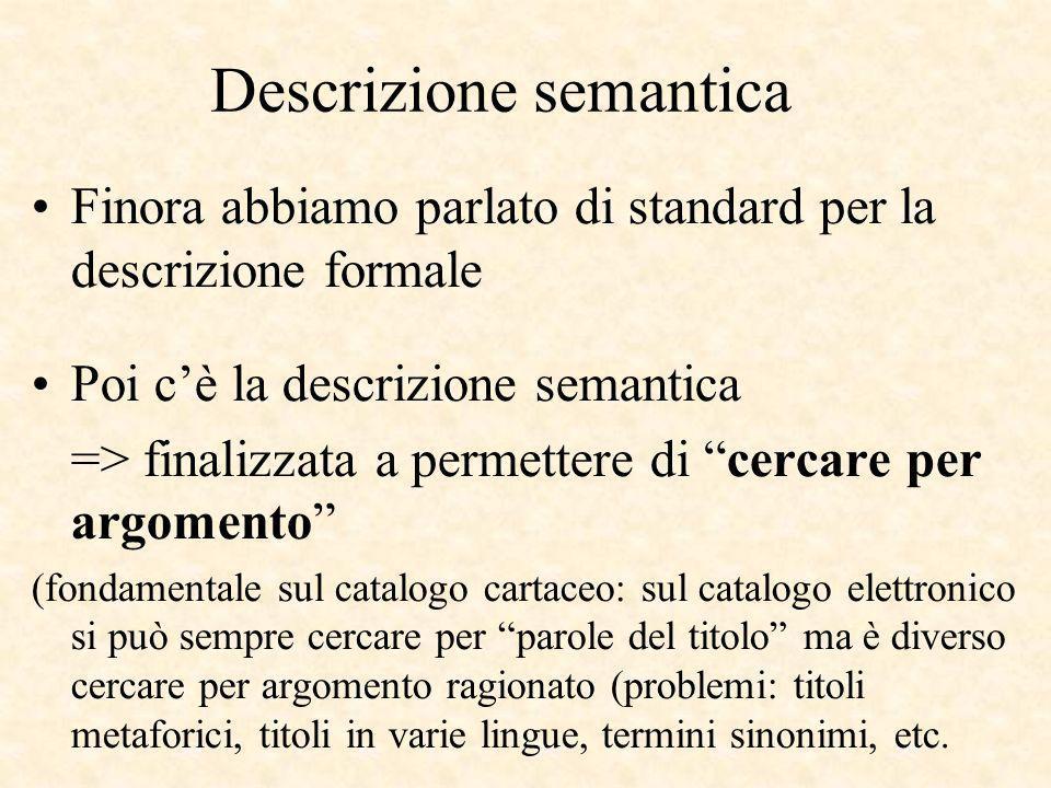 Descrizione semantica