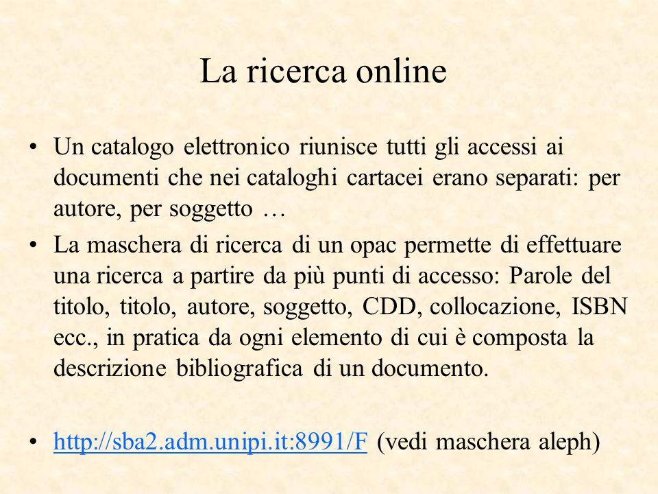 La ricerca online