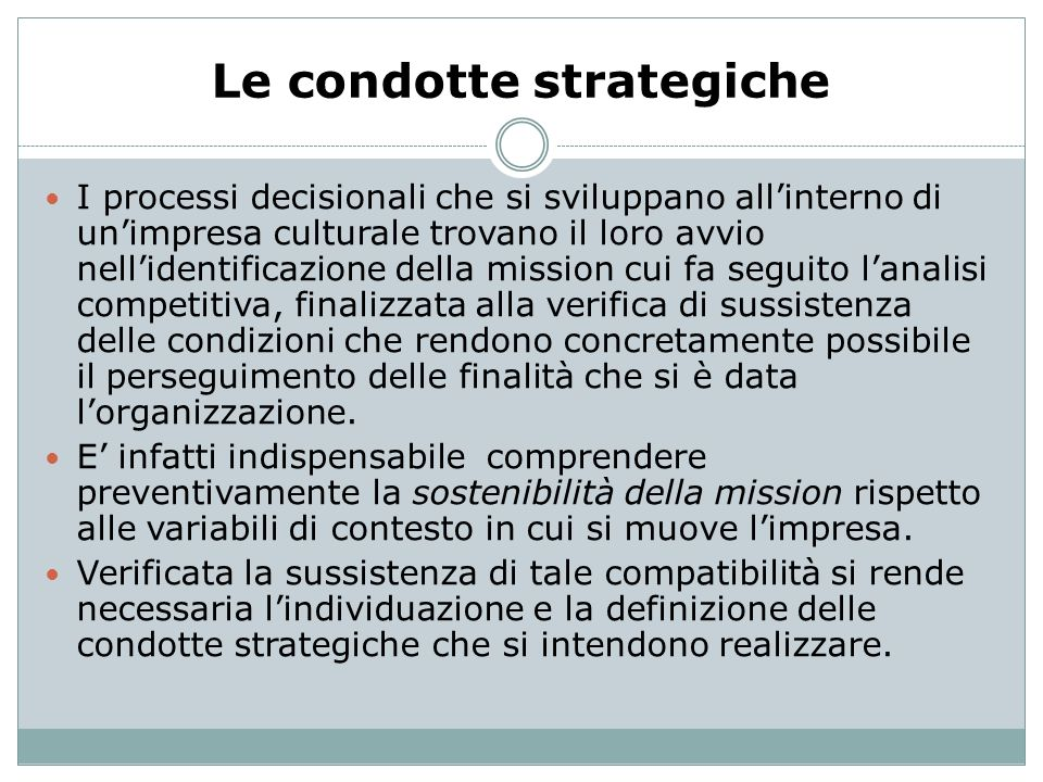Le condotte strategiche