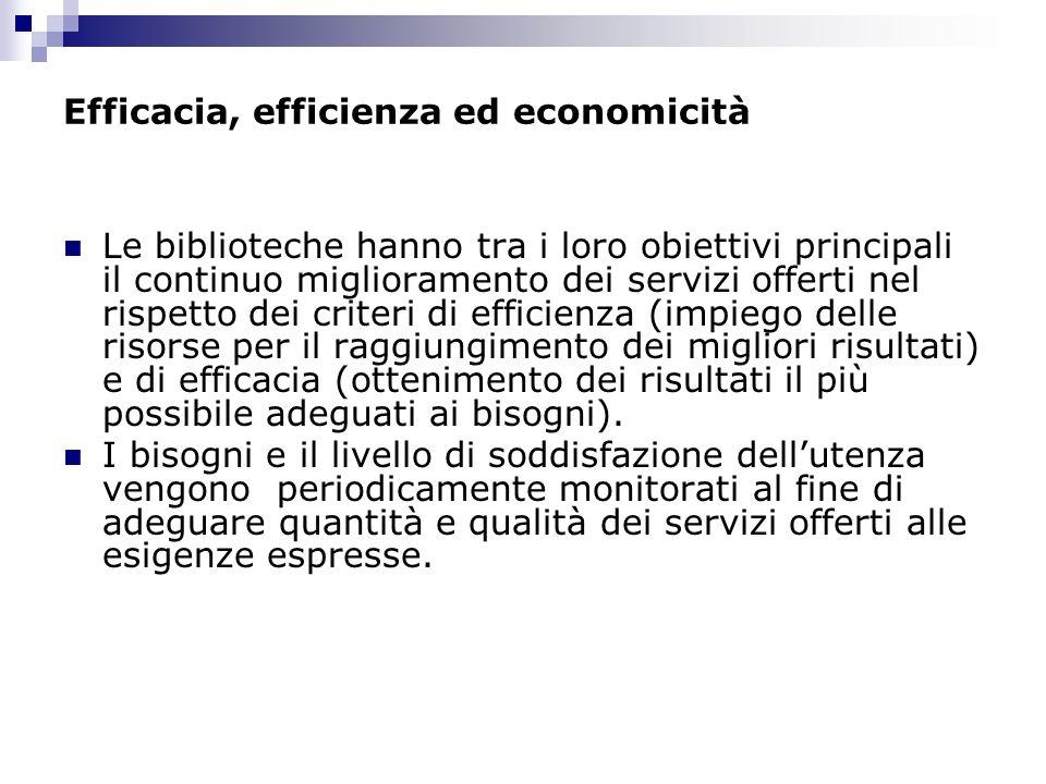 Efficacia, efficienza ed economicità