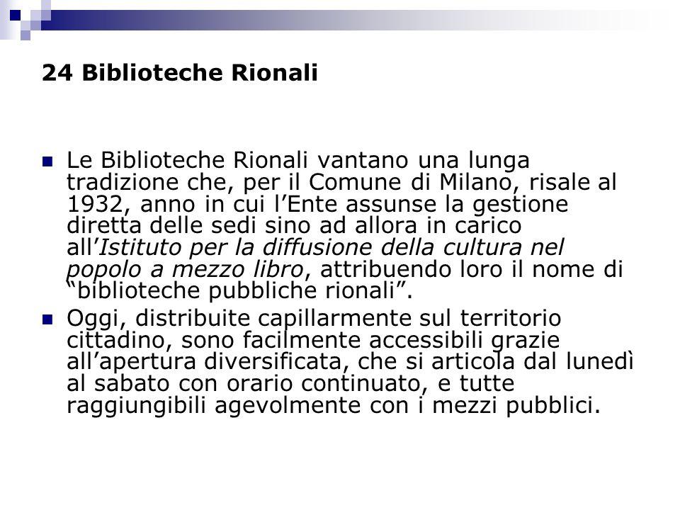 24 Biblioteche Rionali