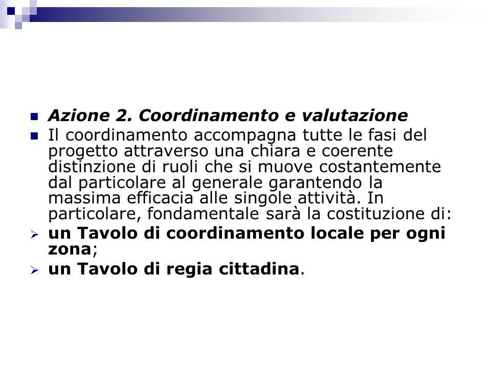 Azione 2. Coordinamento e valutazione