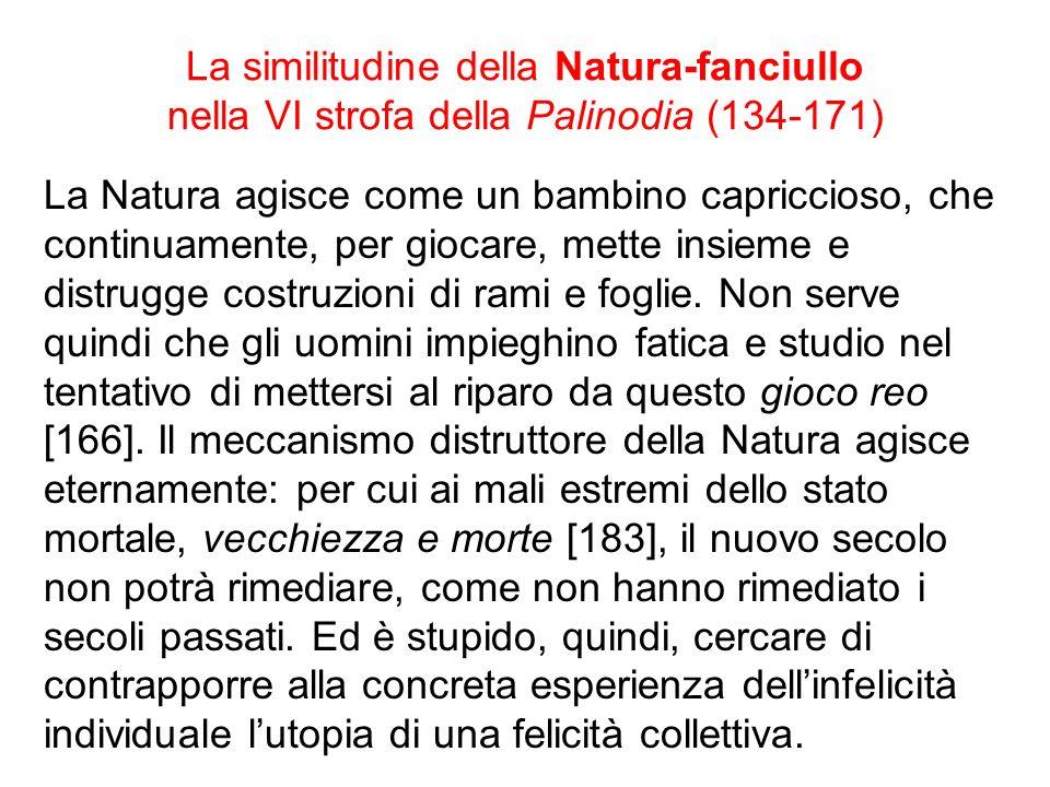 La similitudine della Natura-fanciullo nella VI strofa della Palinodia (134-171)