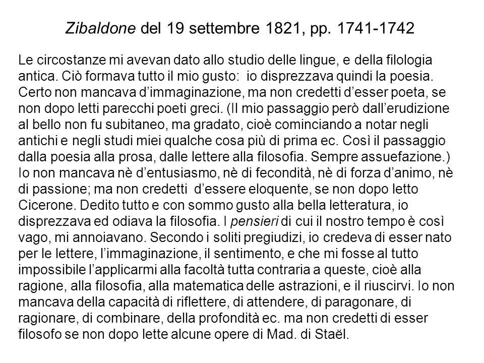 Zibaldone del 19 settembre 1821, pp. 1741-1742