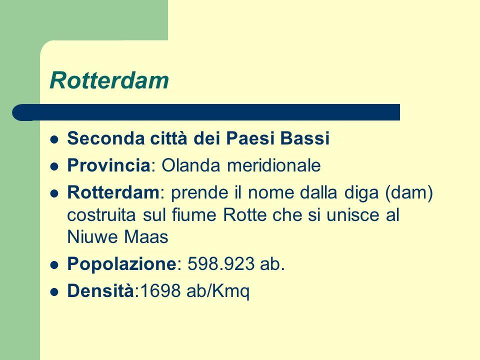 Rotterdam Seconda città dei Paesi Bassi Provincia: Olanda meridionale