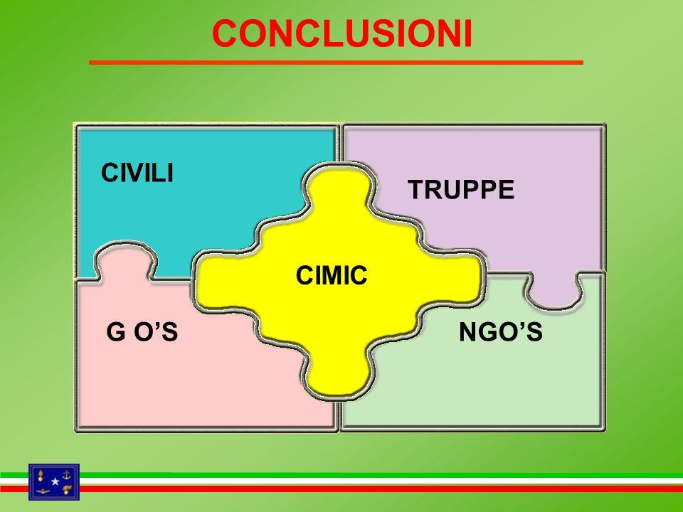 CONCLUSIONI CIVILI TRUPPE CIMIC G O'S NGO'S