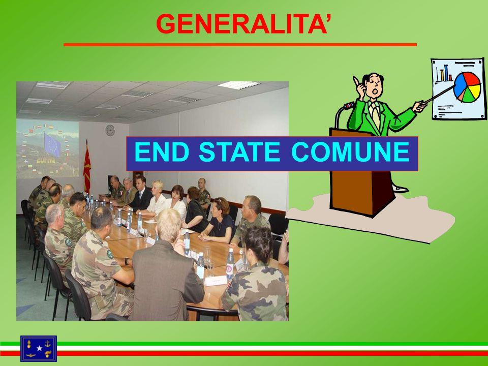 GENERALITA' END STATE COMUNE