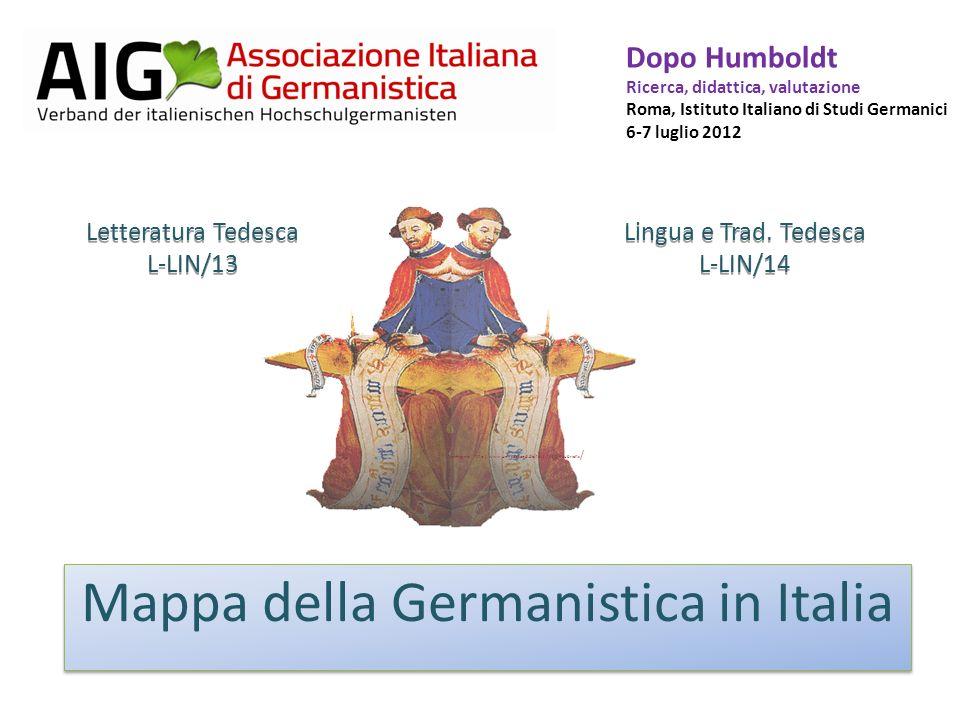 Mappa della Germanistica in Italia