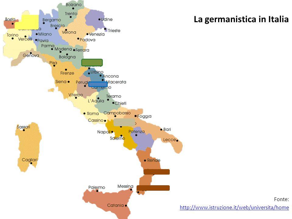 La germanistica in Italia