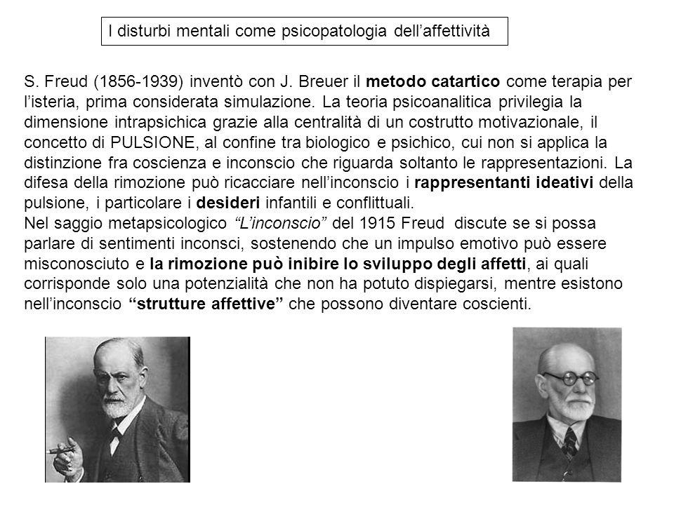 I disturbi mentali come psicopatologia dell'affettività