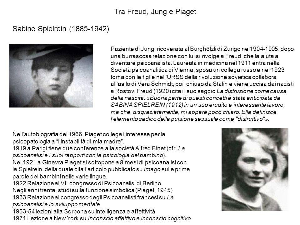 Tra Freud, Jung e Piaget Sabine Spielrein (1885-1942)