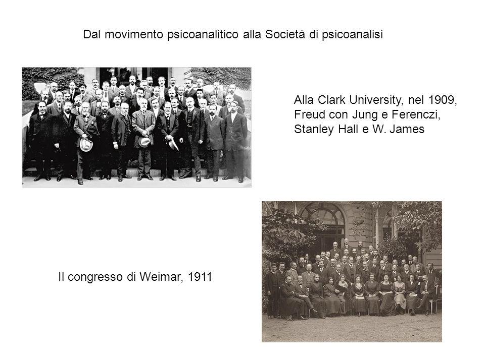Dal movimento psicoanalitico alla Società di psicoanalisi