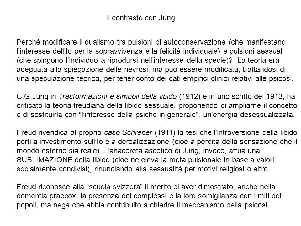 Il contrasto con Jung