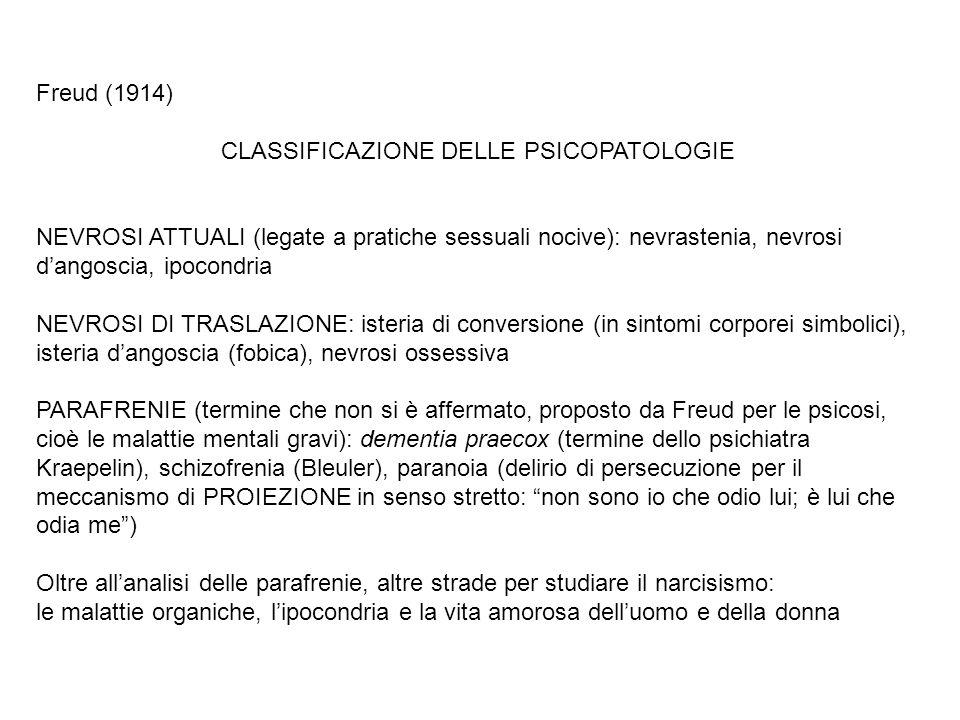 CLASSIFICAZIONE DELLE PSICOPATOLOGIE