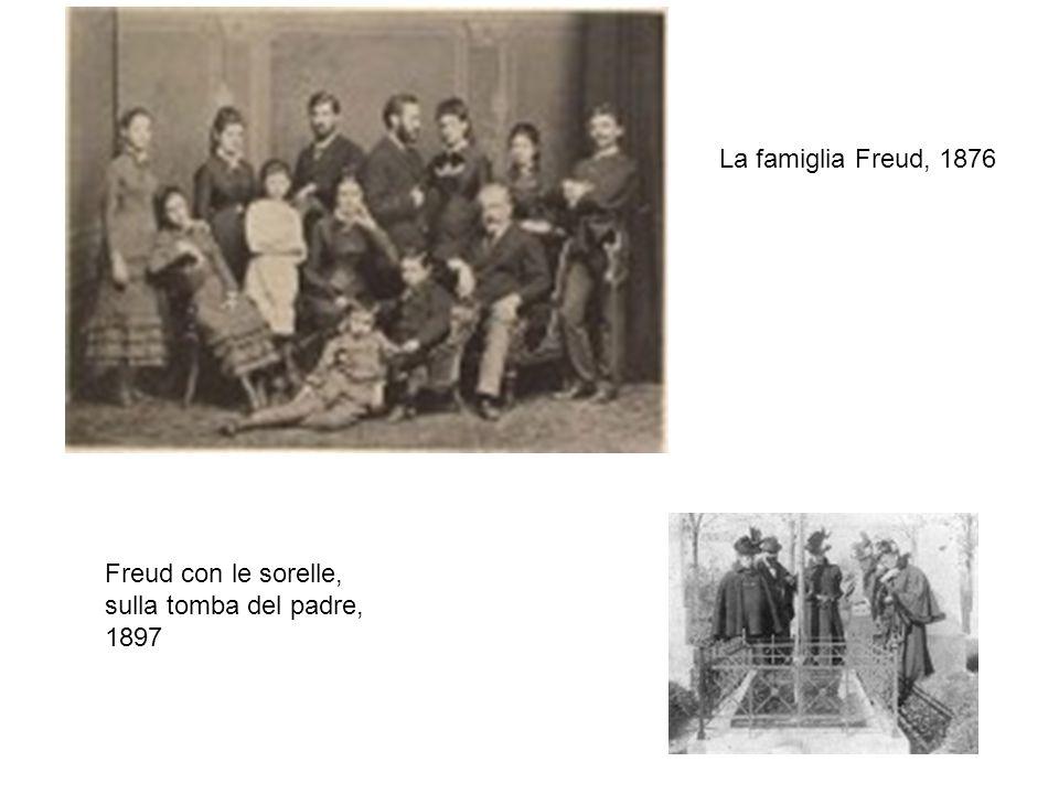 La famiglia Freud, 1876 Freud con le sorelle, sulla tomba del padre, 1897