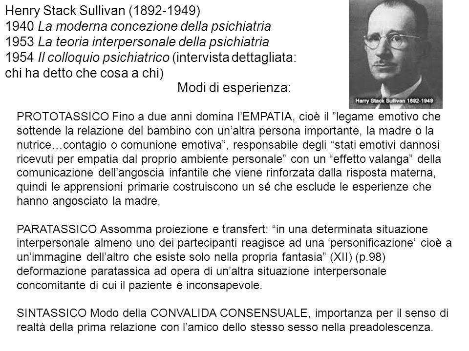 Henry Stack Sullivan (1892-1949)