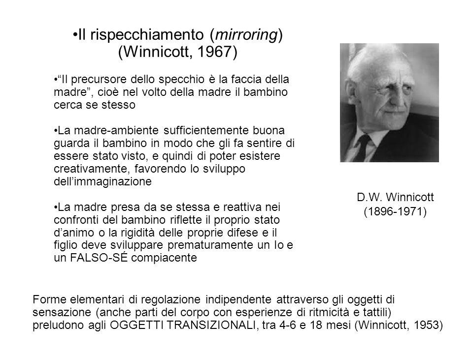 Il rispecchiamento (mirroring) (Winnicott, 1967)