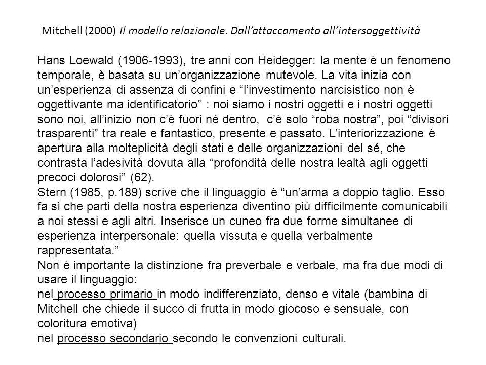 Mitchell (2000) Il modello relazionale