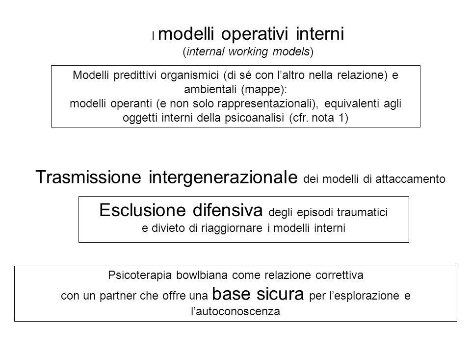 Trasmissione intergenerazionale dei modelli di attaccamento