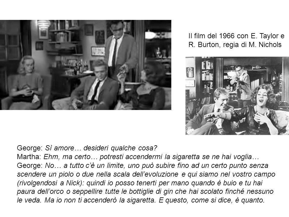 Il film del 1966 con E. Taylor e R. Burton, regia di M. Nichols