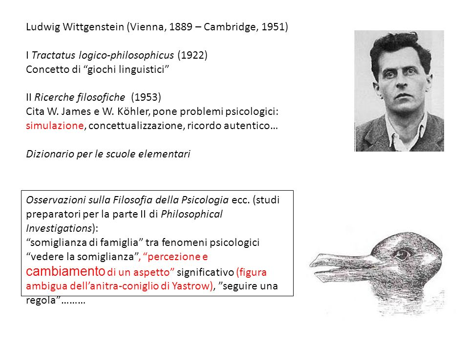 Ludwig Wittgenstein (Vienna, 1889 – Cambridge, 1951)
