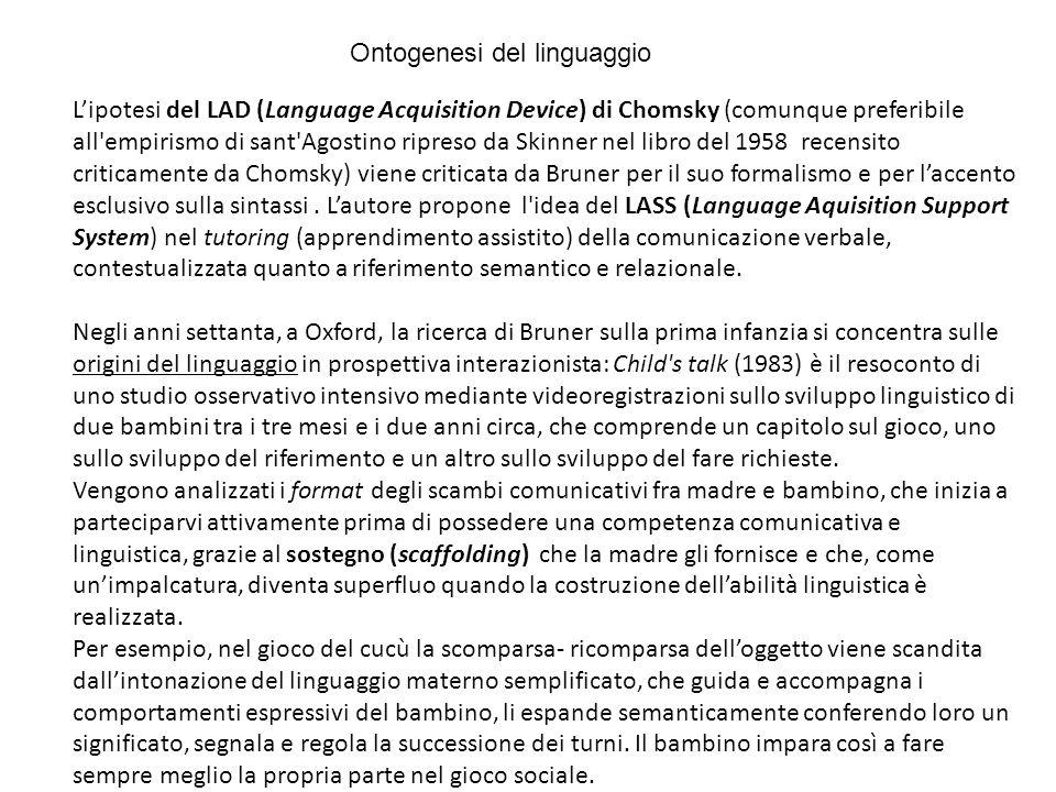 Ontogenesi del linguaggio