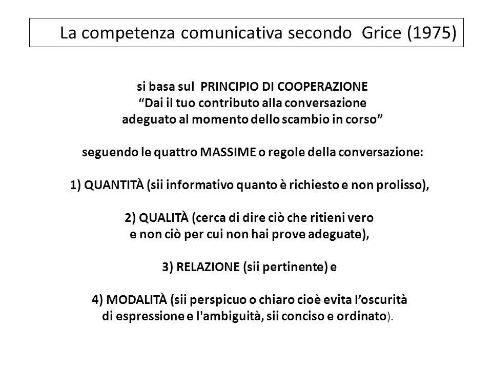 La competenza comunicativa secondo Grice (1975)