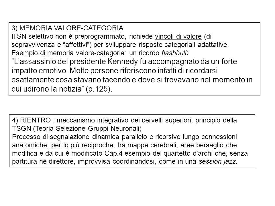 3) MEMORIA VALORE-CATEGORIA