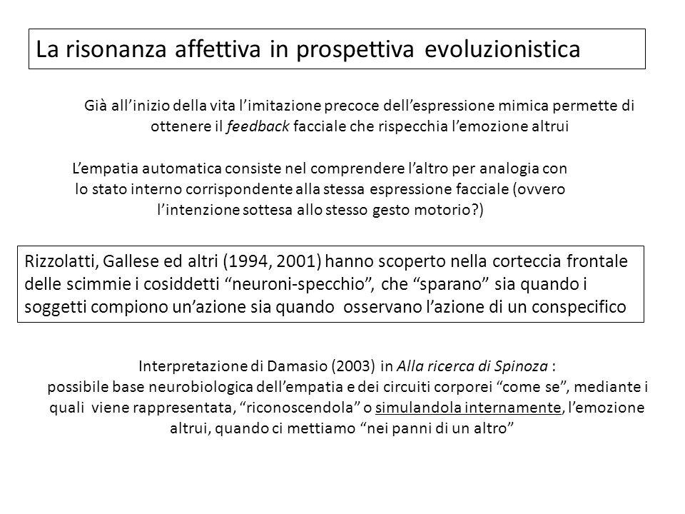 Interpretazione di Damasio (2003) in Alla ricerca di Spinoza :