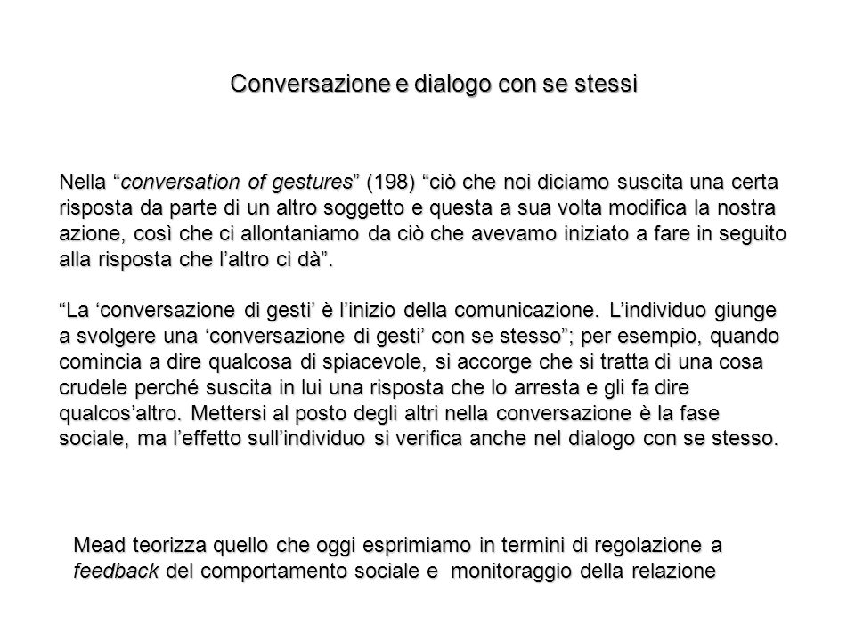 Conversazione e dialogo con se stessi