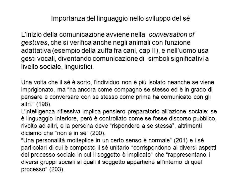Importanza del linguaggio nello sviluppo del sé