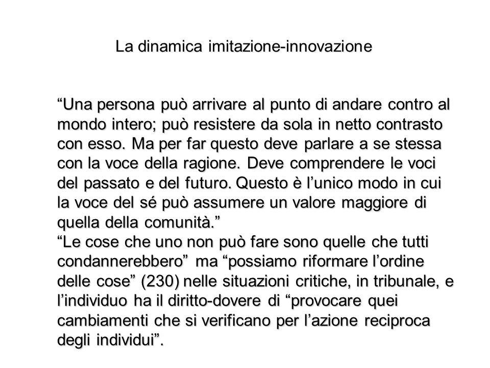 La dinamica imitazione-innovazione