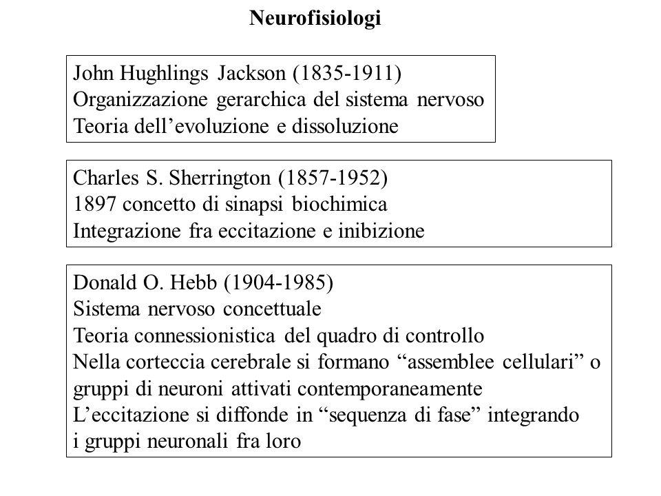 Neurofisiologi John Hughlings Jackson (1835-1911) Organizzazione gerarchica del sistema nervoso. Teoria dell'evoluzione e dissoluzione.
