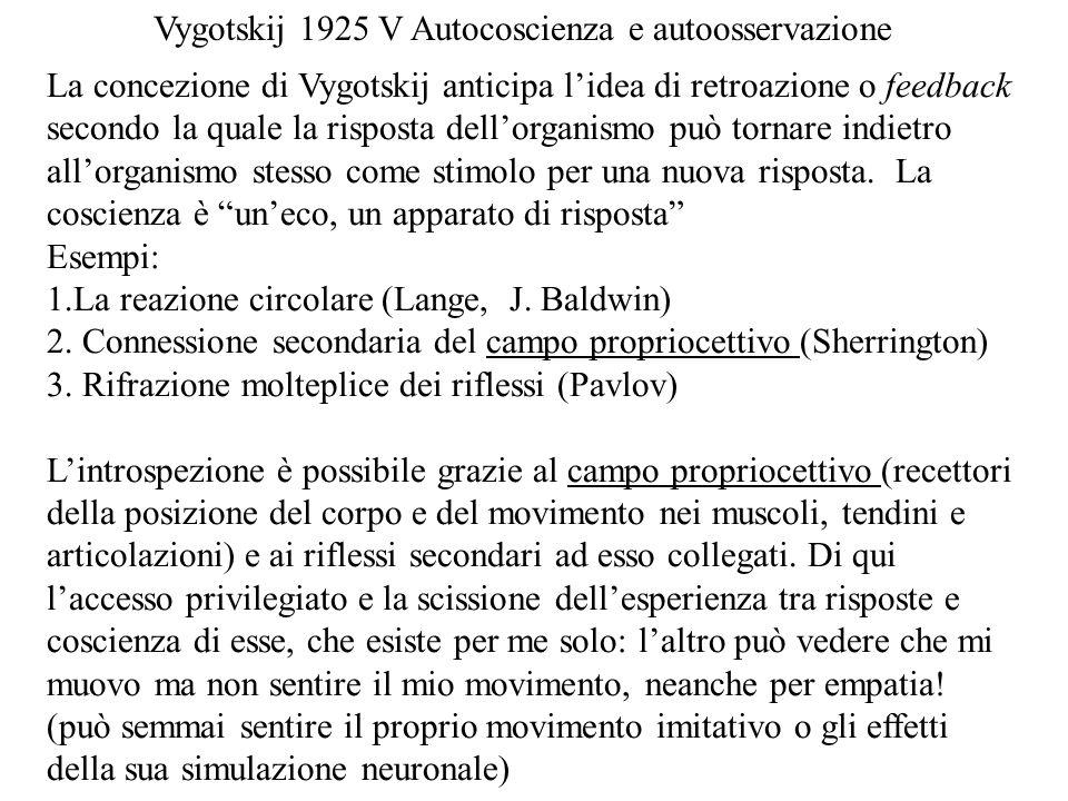 Vygotskij 1925 V Autocoscienza e autoosservazione