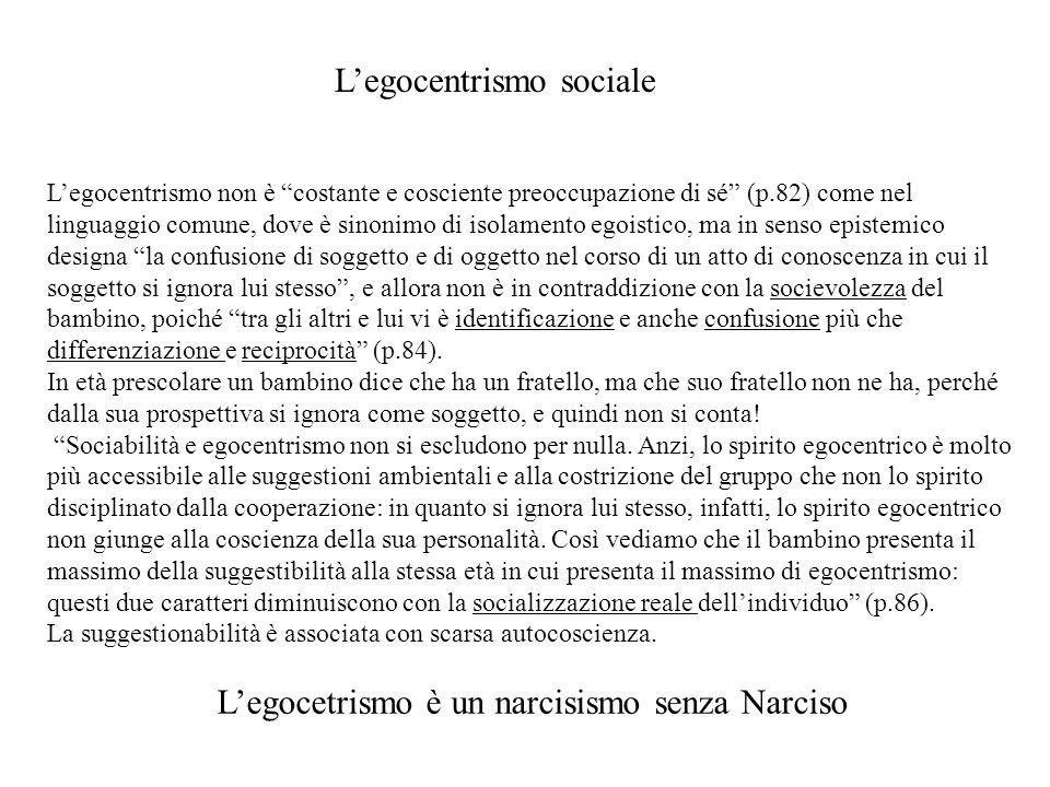 L'egocetrismo è un narcisismo senza Narciso