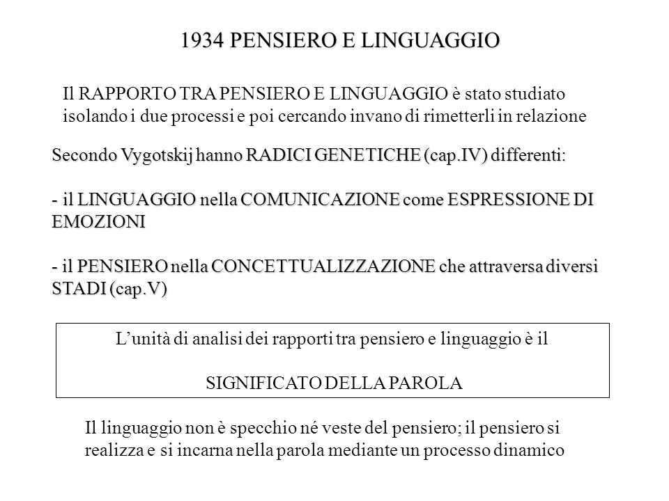 1934 PENSIERO E LINGUAGGIO