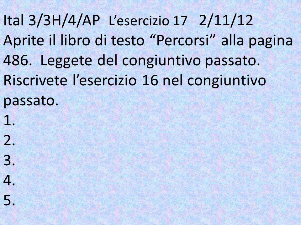 Ital 3/3H/4/AP. L'esercizio 17