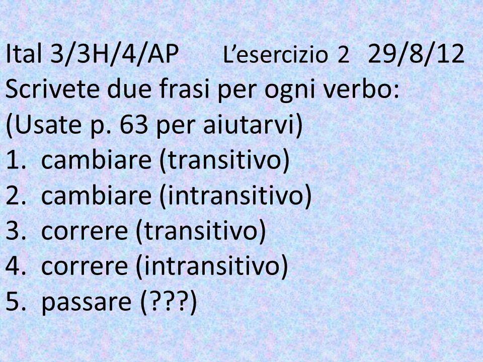 Ital 3/3H/4/AP. L'esercizio 2