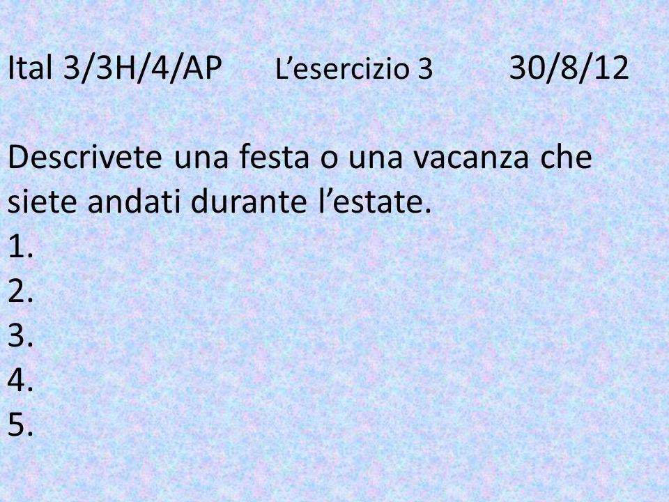 Ital 3/3H/4/AP. L'esercizio 3