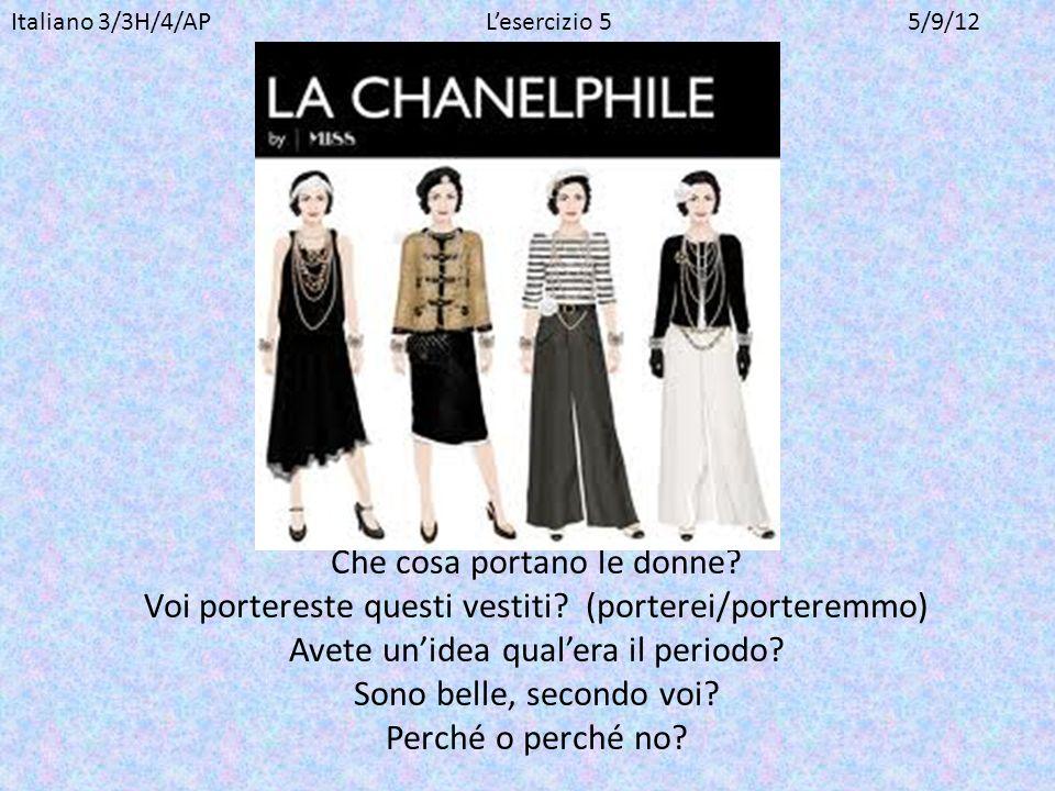 Italiano 3/3H/4/AP L'esercizio 5 5/9/12