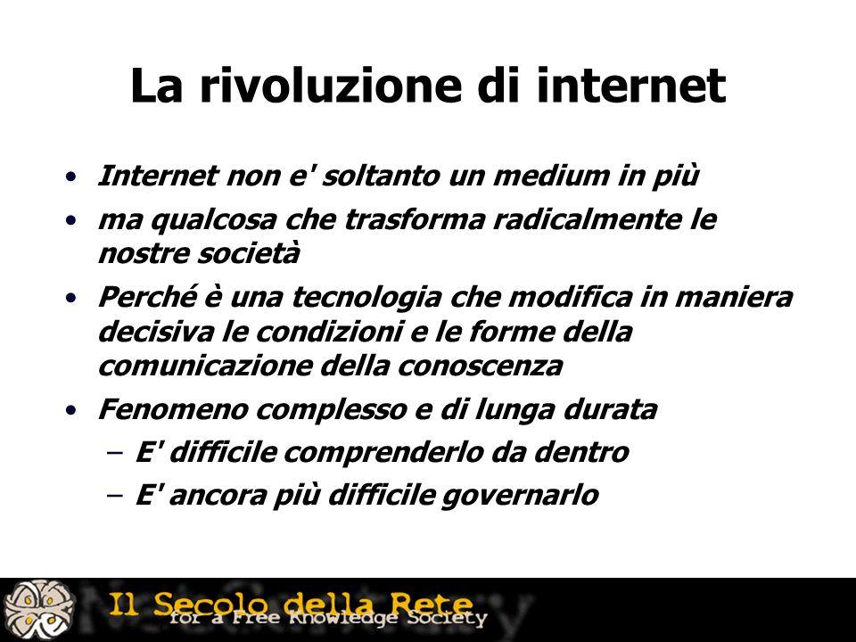 La rivoluzione di internet