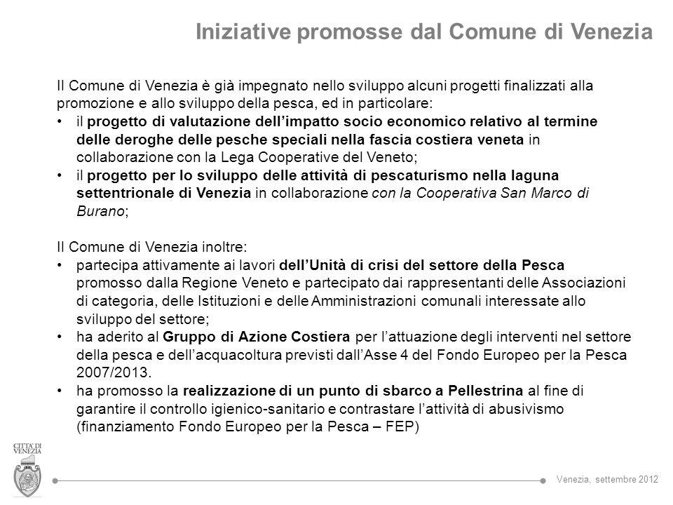 Iniziative promosse dal Comune di Venezia